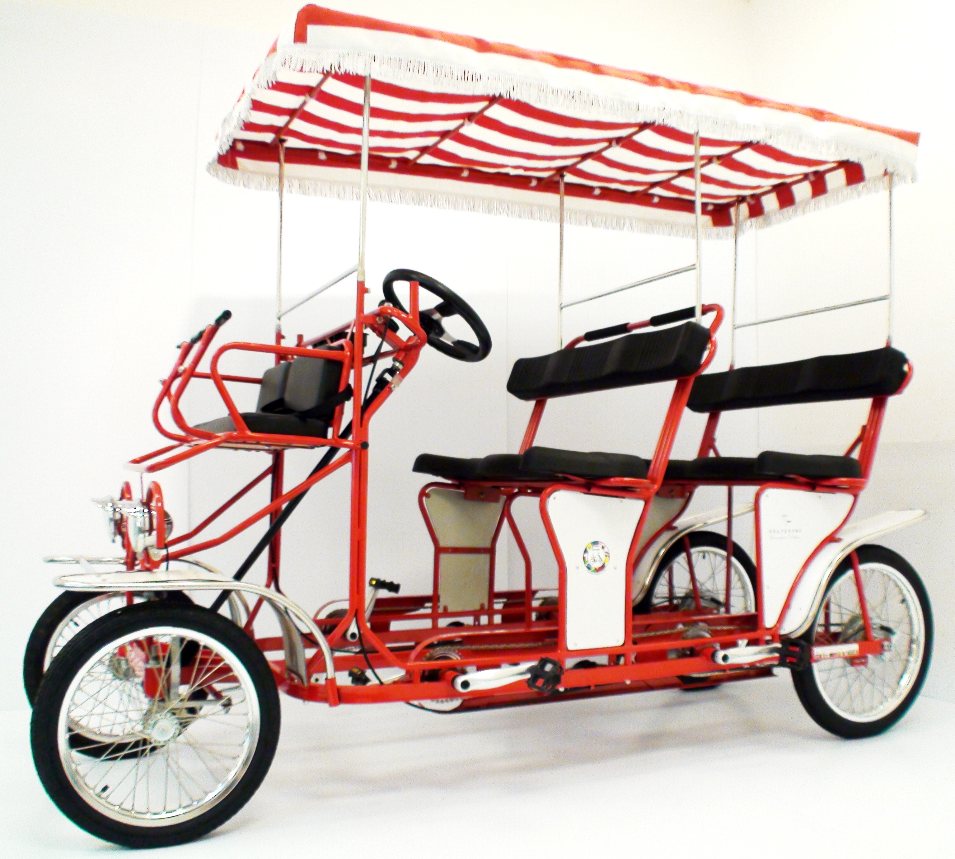 Red Limo Four Wheel 2 And 4 Person Surrey Bikes Beach