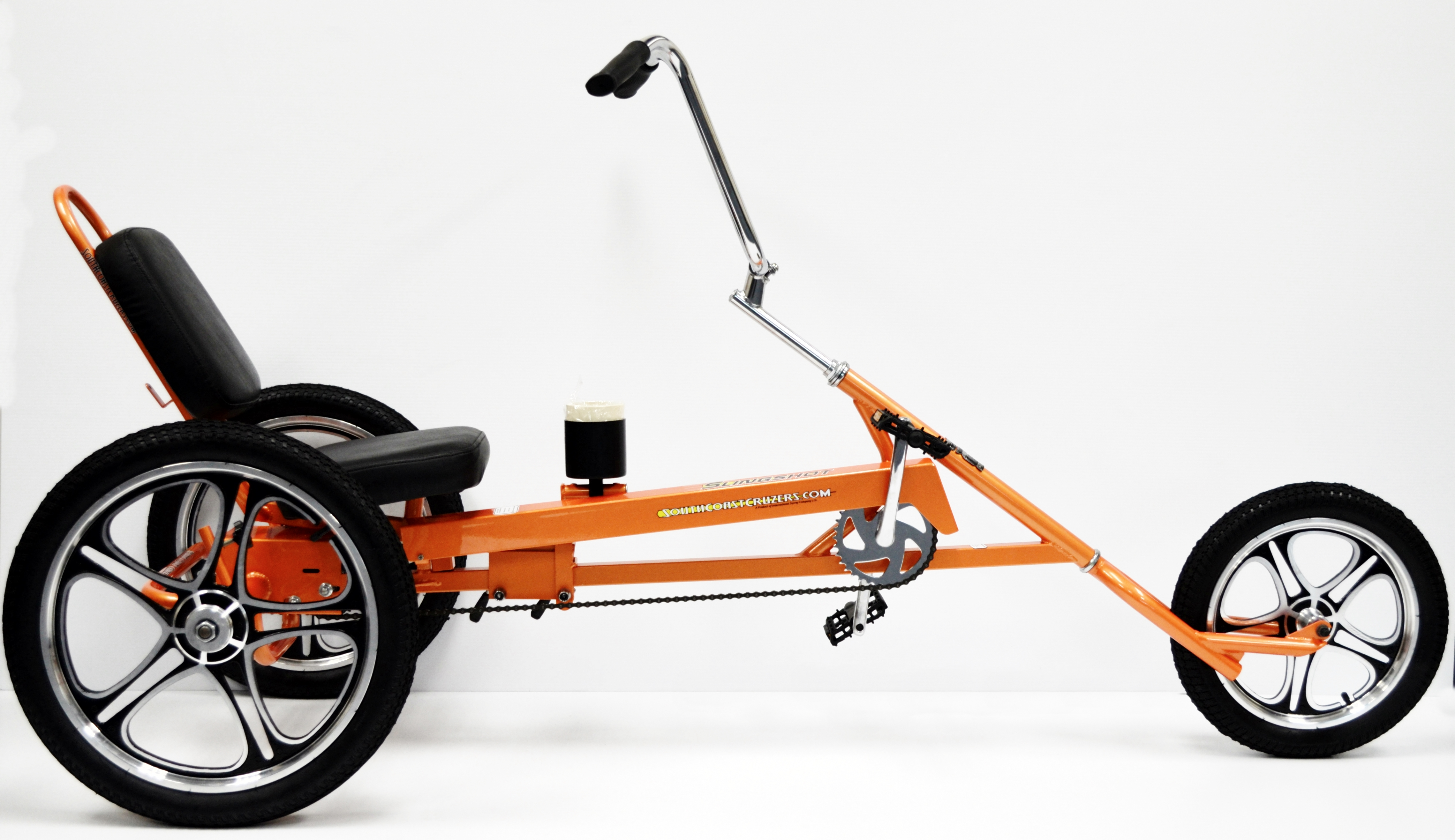 Tricycle Bike Parts : Slingshot recumbent trike four wheel and person