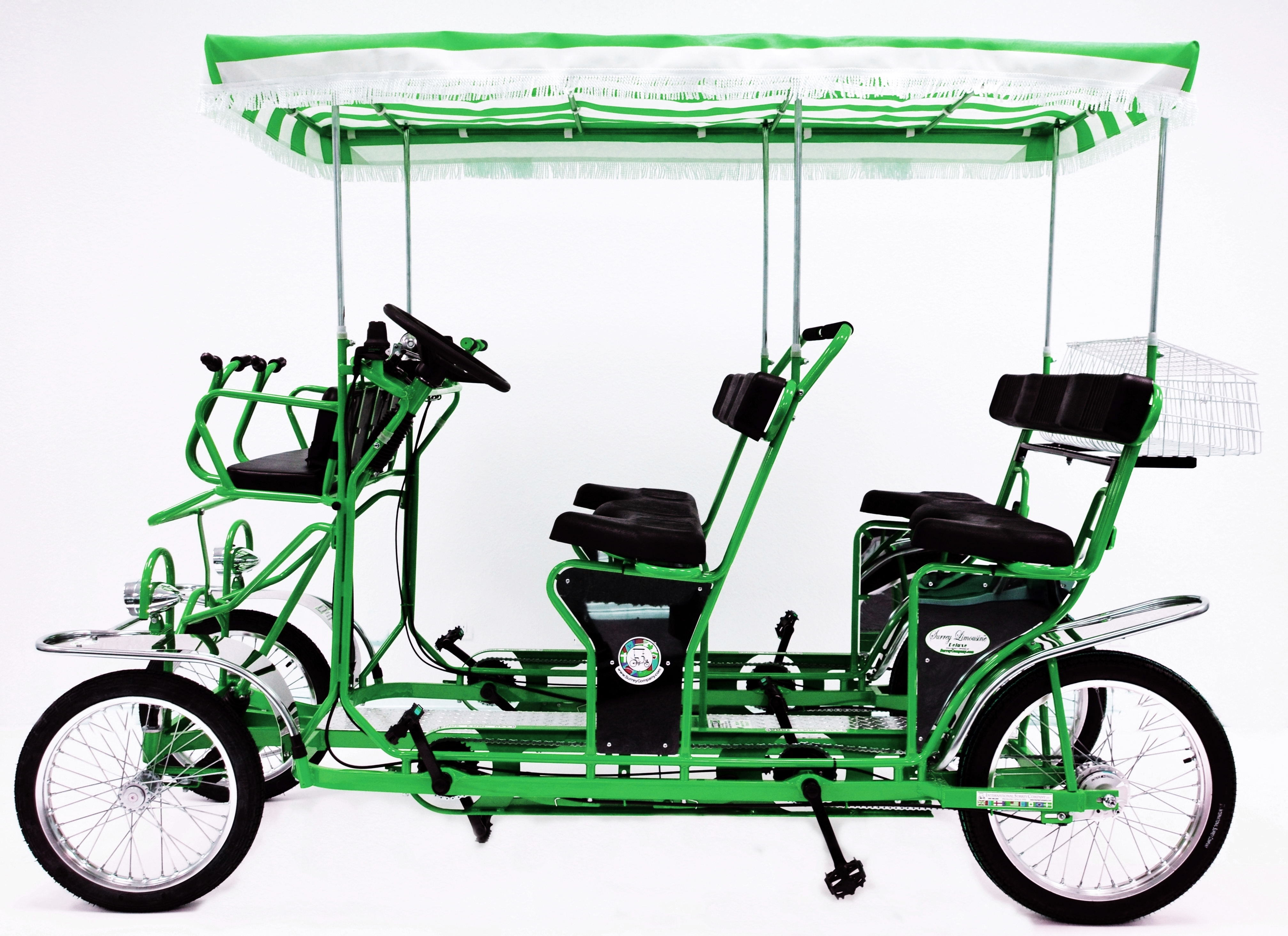 Green 16 Limo Four Wheel 2 And 4 Person Surrey Bikes