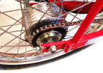 Standard sealed bearing drum brake rear hub and allow wheel