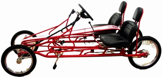 Recumbent Bike Road Runner Quadricycle 4 Wheel 2 Person